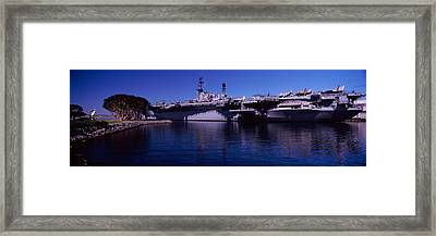 Aircraft Carriers At A Museum, San Framed Print by Panoramic Images