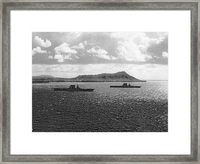 Aircraft Carriers In Hawaii Framed Print