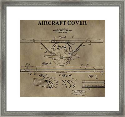 Aircraft Cover Patent Framed Print