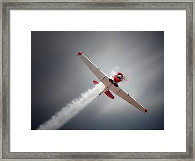 Aircraft In Flight Framed Print by Johan Swanepoel