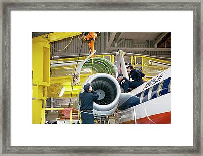 Aircraft Maintenance Training Framed Print by Jim West