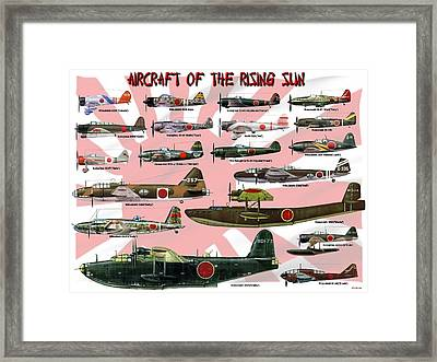 Aircraft Of The Rising Sun Framed Print by Mil Merchant