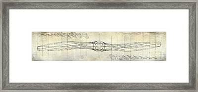 Aircraft Propeller Blueprint Drawing Framed Print