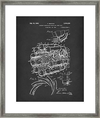 Aircraft Propulsion 1946 Patent Art Black Framed Print by Prior Art Design