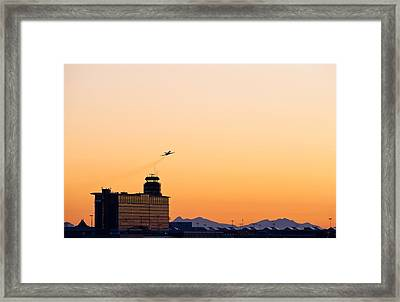 Aircraft Taking Off Framed Print by Science Photo Library