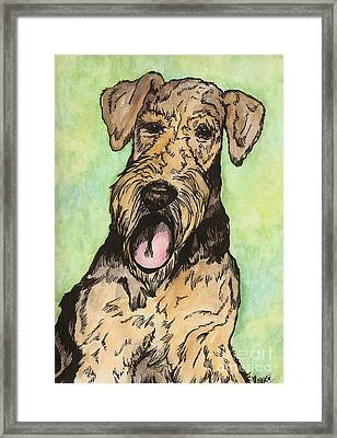 Airedale Ink Framed Print