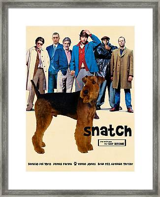 Airedale Terrier Art Canvas Print - Snatch Movie Poster Framed Print by Sandra Sij