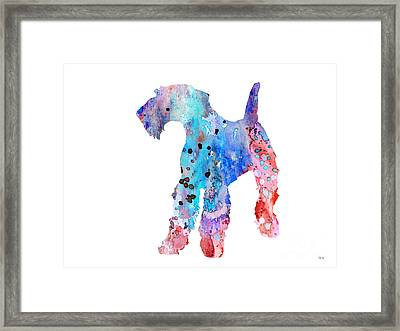 Airedale Terrier  Framed Print by Watercolor Girl