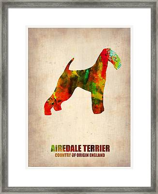 Airedale Terrier Poster Framed Print by Naxart Studio
