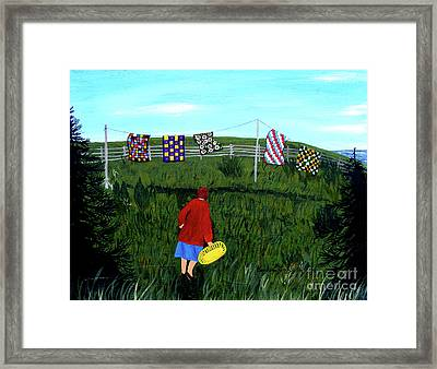 Airing Grandmother's Quilts Framed Print by Barbara Griffin