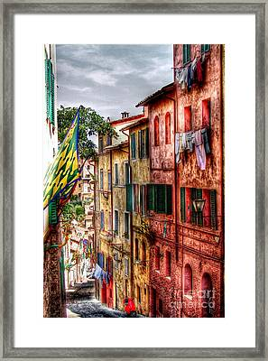 Airing Your Laundry Framed Print by Patrick Witz