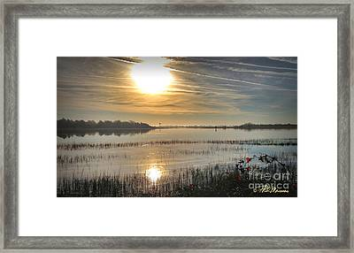 Framed Print featuring the photograph Airlie Road Morning by Phil Mancuso