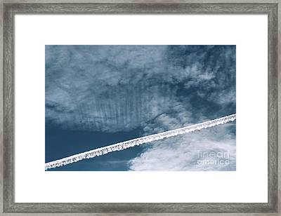 Airplane Contrail Framed Print