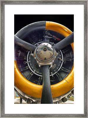 Airplane Engine Framed Print by Thomas Woolworth