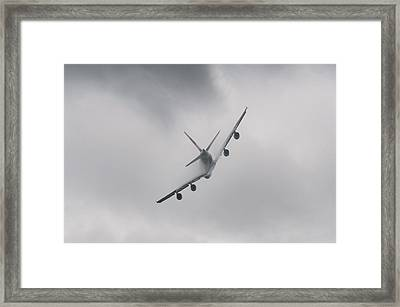 Airplane Flying In Bad Weather Framed Print by Dutourdumonde Photography