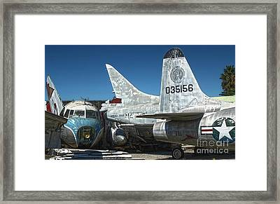 Airplane Graveyard - 19 Framed Print by Gregory Dyer