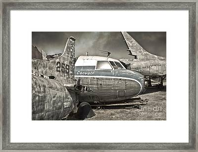 Airplane Graveyard - 02 Framed Print by Gregory Dyer