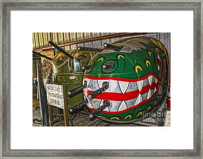 Airplane Nose Gun Turret Framed Print by Gregory Dyer