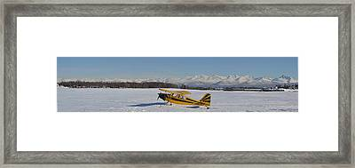 Airplane On Ice Framed Print