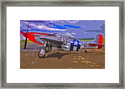 Airplane P-51 Mustang Framed Print by Brian Mollenkopf
