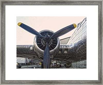 Airplane Propeller - 01 Framed Print by Gregory Dyer