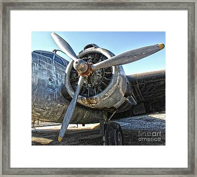 Airplane Propeller - 04 Framed Print by Gregory Dyer