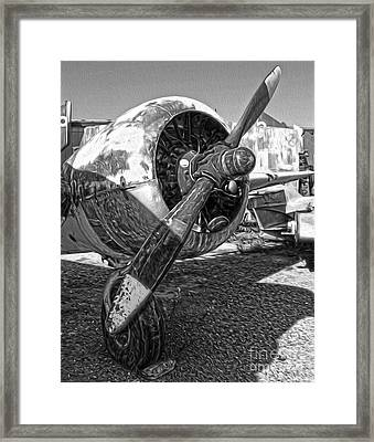 Airplane Propeller - 07 Framed Print by Gregory Dyer