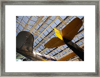 Airplane Rudders Framed Print