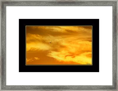 Framed Print featuring the photograph Airplane To The Sun by Thomas Bomstad
