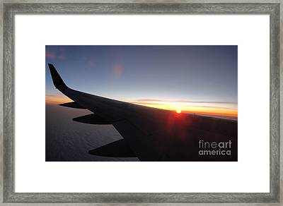 Airplane Wing - 01 Framed Print by Gregory Dyer