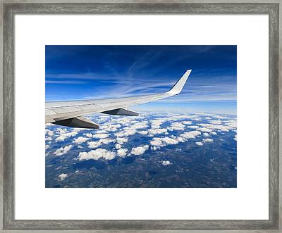 Airplane Wing Framed Print by Dutourdumonde Photography