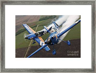 Airplanes Perform At The Sound Of Speed Framed Print by Stocktrek Images