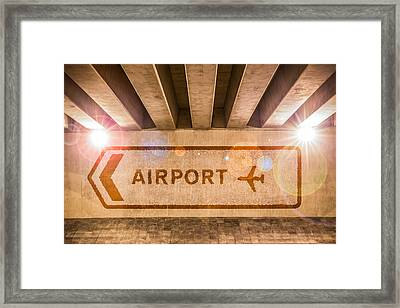 Airport Directions Framed Print