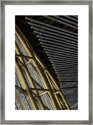 Airport Lines Framed Print