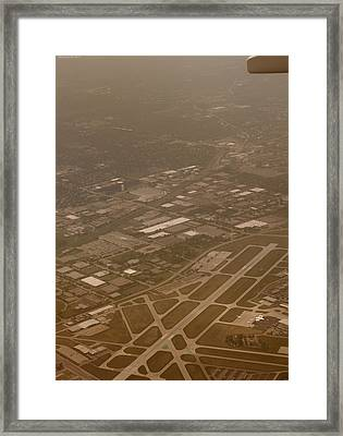 Airport Framed Print by Miguel Winterpacht