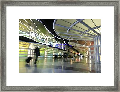 Framed Print featuring the photograph Airport Rush by Kate Purdy