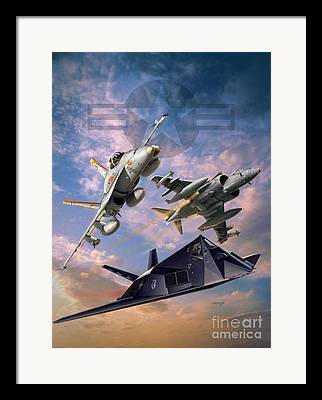 American Airpower Framed Prints