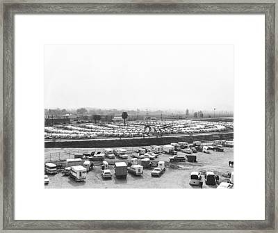 Airstream Trailer Convention Framed Print by Underwood Archives