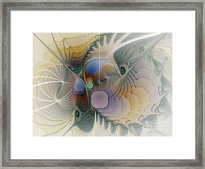 Airy Space-fractal Art Framed Print by Karin Kuhlmann