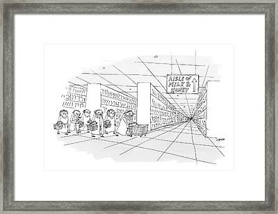 Aisle Of Milk & Honey Framed Print by Edward Steed