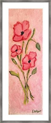 Aislinn's Poppies Framed Print by Pamela Kilgus