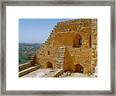 Ajlun Castle In Jordan Framed Print by Ruth Hager