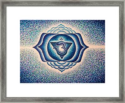 Ajna Third Eye Chakra  Framed Print by Andrew Zeutzius