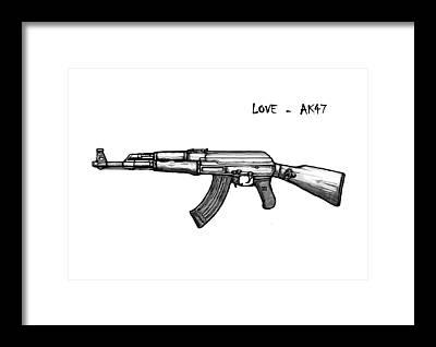 Gun Sketch Art   Fine Art America