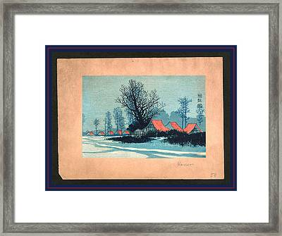 Aka Yane No Ieie, Red Roofs. Between 1900 And 1920 Framed Print