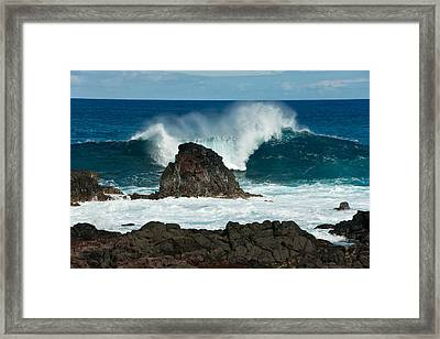 Akahanga Wave 2 Framed Print