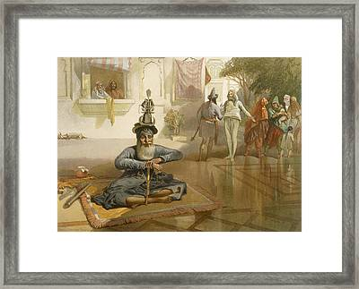 Akalis At The Holy Tank, Umritsar Framed Print by William 'Crimea' Simpson