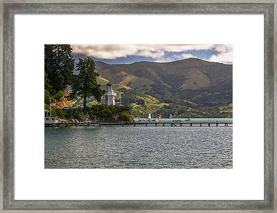 Akaroa Lighthouse Framed Print