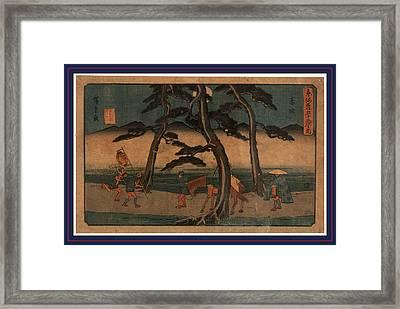 Akasaka, Ando Between 1844 And 1848, 1 Print  Woodcut Framed Print by Utagawa Hiroshige Also And? Hiroshige (1797-1858), Japanese