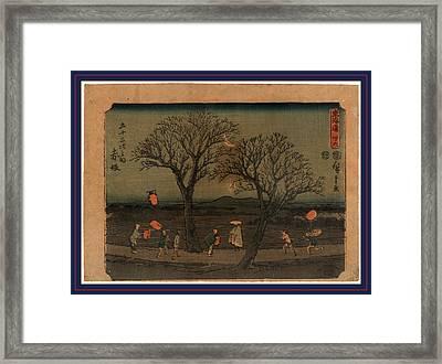 Akasaka, Ando Between 1848 And 1854, 1 Print  Woodcut Framed Print by Utagawa Hiroshige Also And? Hiroshige (1797-1858), Japanese